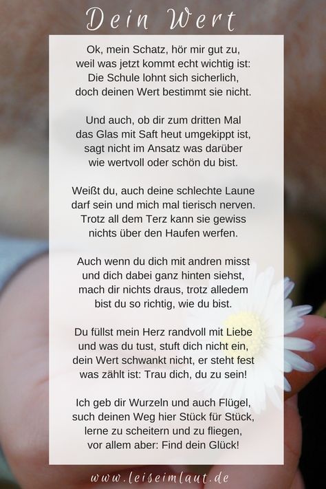 Photo of Dein Wert (Gedicht) – leise im Laut