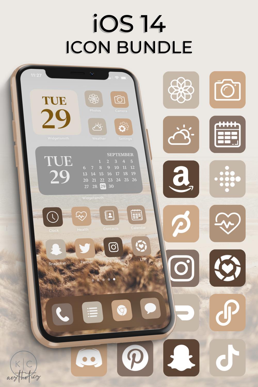 420+iOS 21 Icons Neutral   iOS 21 Aesthetic   Neutral App Icons ...