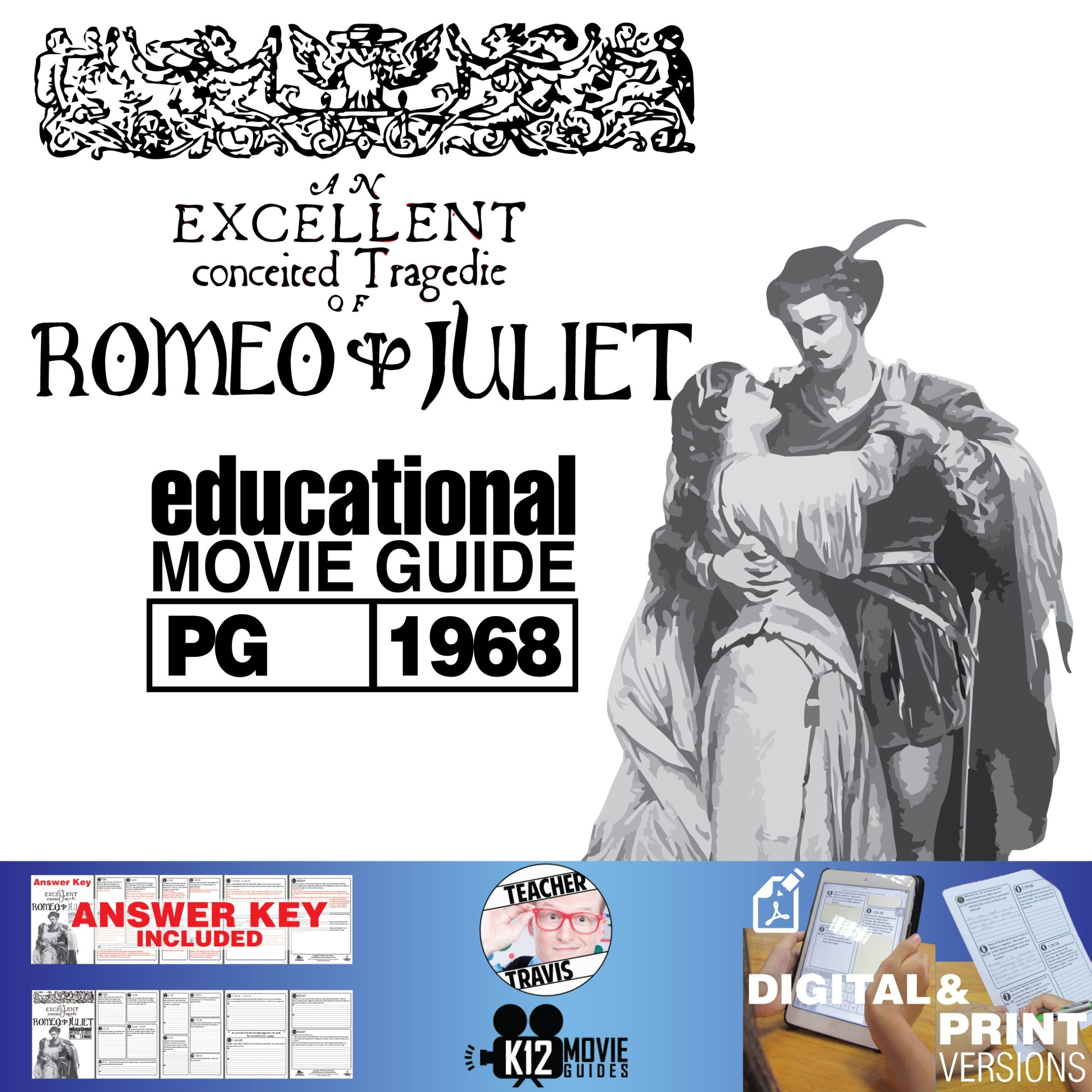 Romeo And Juliet Movie Guide Questions Worksheet Pg 1968 Juliet Movie Movie Guide Romeo And Juliet