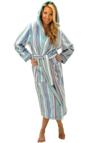 Alexander Del Rossa Women s Fleece Hooded Bathrobe Robe  91e591ee6