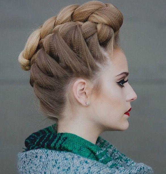 textured braided faux hawk heatherchapmanhair
