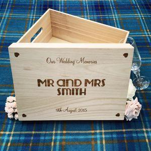 Large Wedding Keepsake Box - storage & organisers | livros de ...