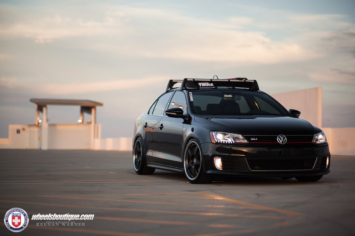 Volkswagen Jetta Gli With Hre 595rs In Satin Black Hre