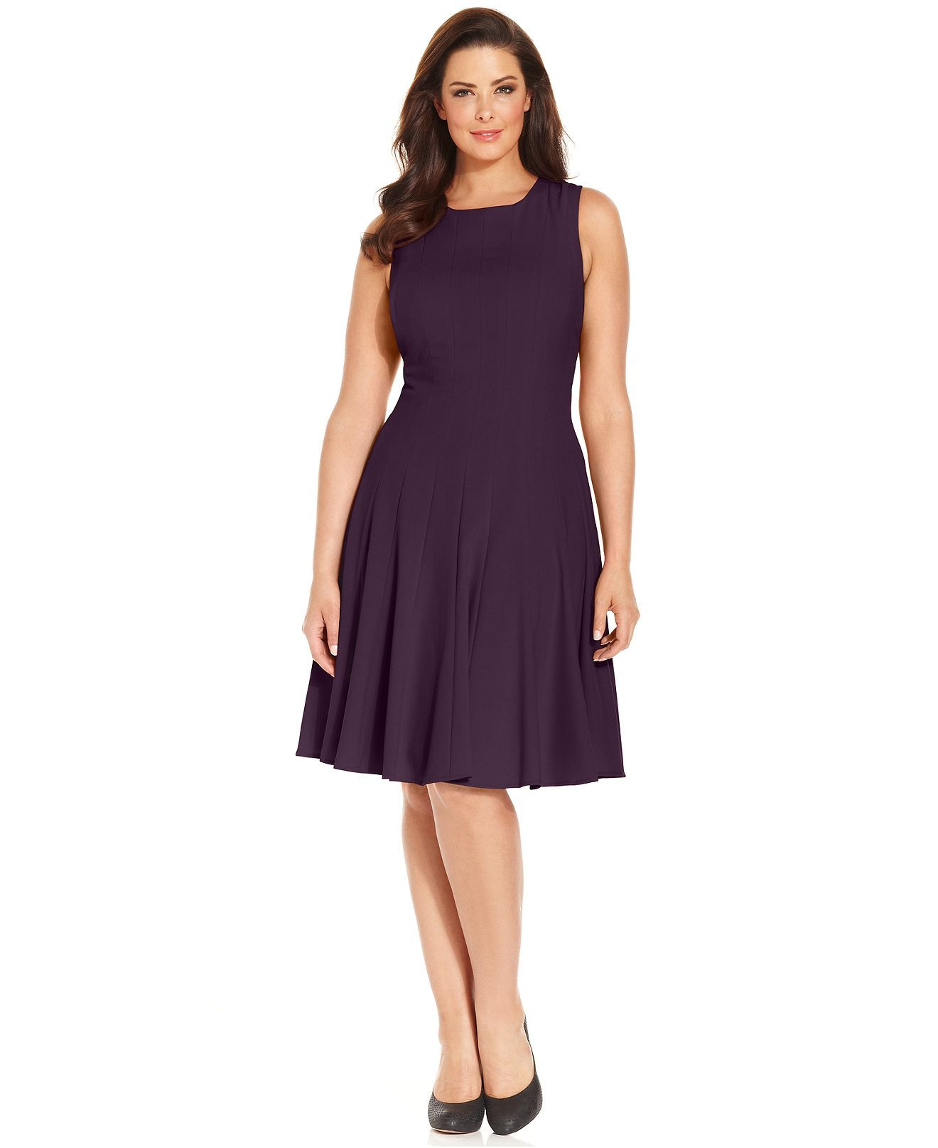 e05736e3a85b4 Calvin Klein Plus Size Pleated A-Line Dress - Plus Size Dresses - Plus  Sizes - Macy s