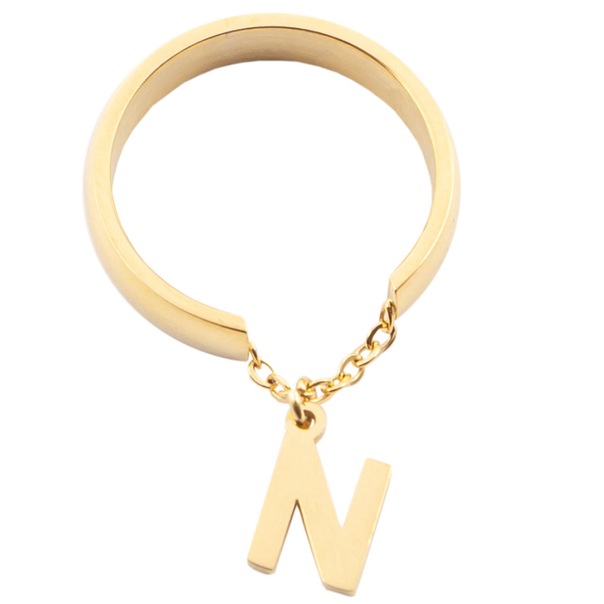 انگشتر زنانه بهارگالری طرح حرف N Https Agore Ir D8 A7 D9 86 Da Gold Necklace Necklace Gold