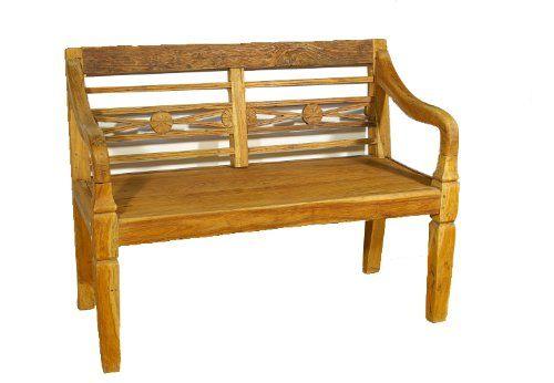 Kleine Gartenbank 2 Sitzer Antikdesign Divero | Holz Gartenbank ...