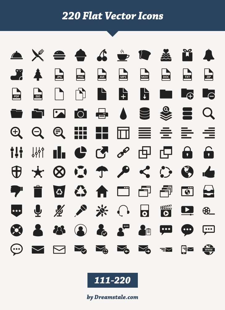 Free Download 220 Flat Vector Icons Vector icons, Glyph