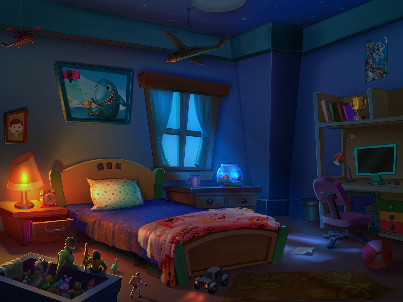 Secret Star Panel to Expand your Glow in the Dark Secret ...  Kids Bedroom At Night