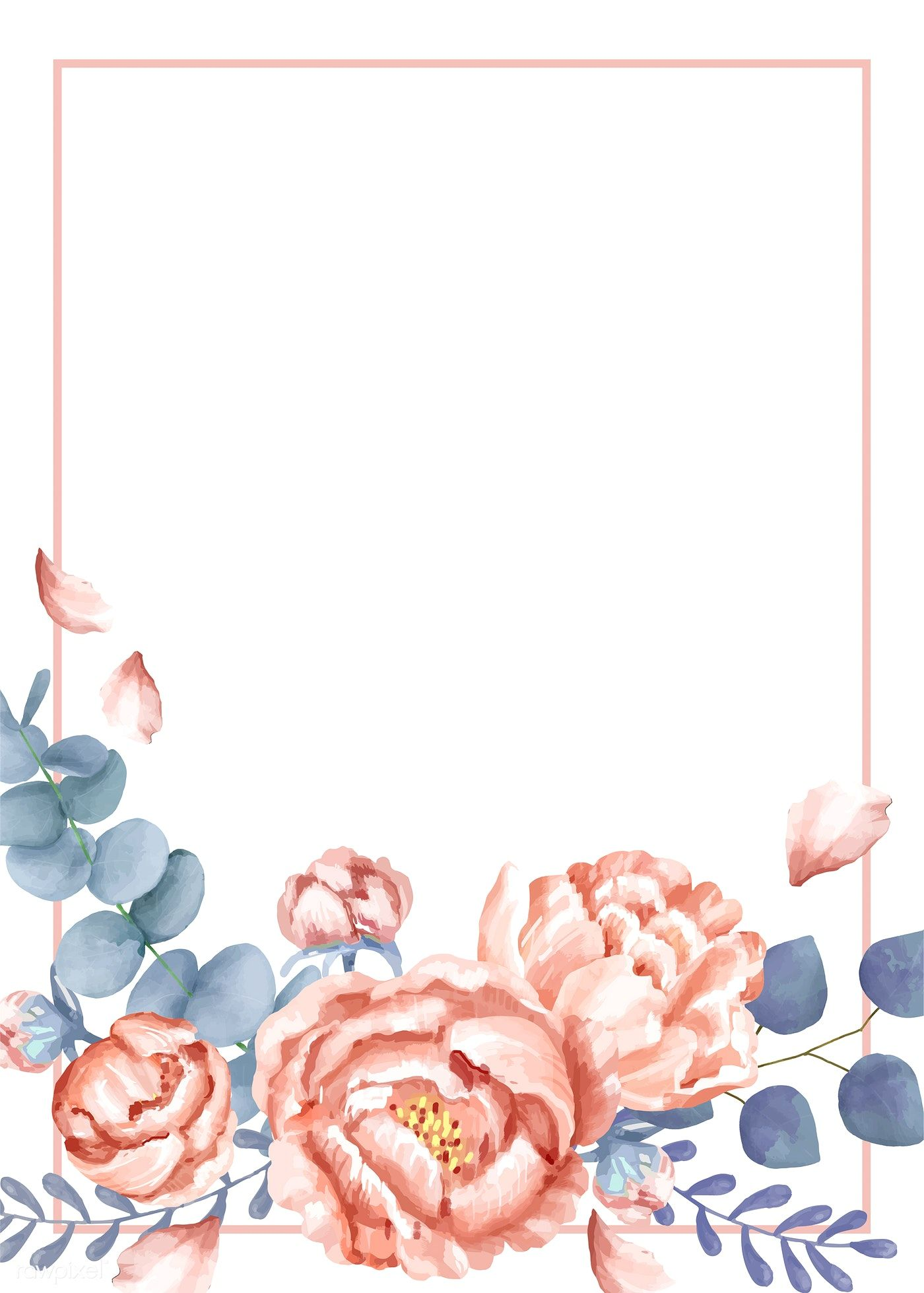 Download Premium Vector Of Invitation Card With A Floral