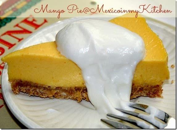 How To Make No Bake Mango Pie Como Hacer Pay De Mango Recipe Mango Pie Baking Mexican Dessert Recipes