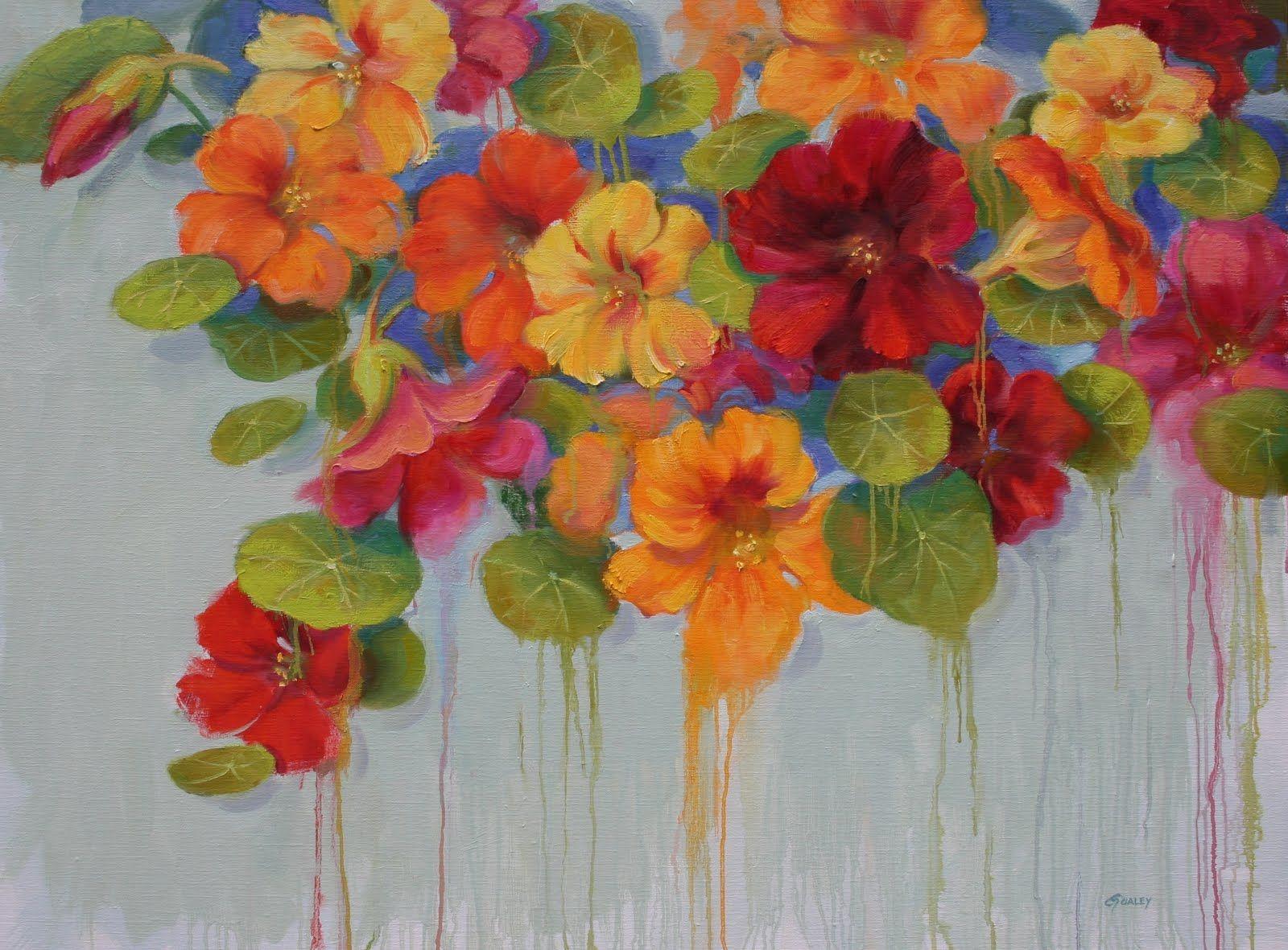 Sara Qualey Paintings Nasturtium Pinterest Paintings