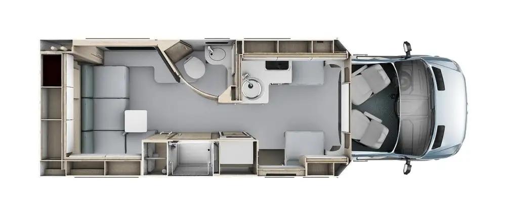 New campervan from Leisure Vans boasts spacesaving murphy