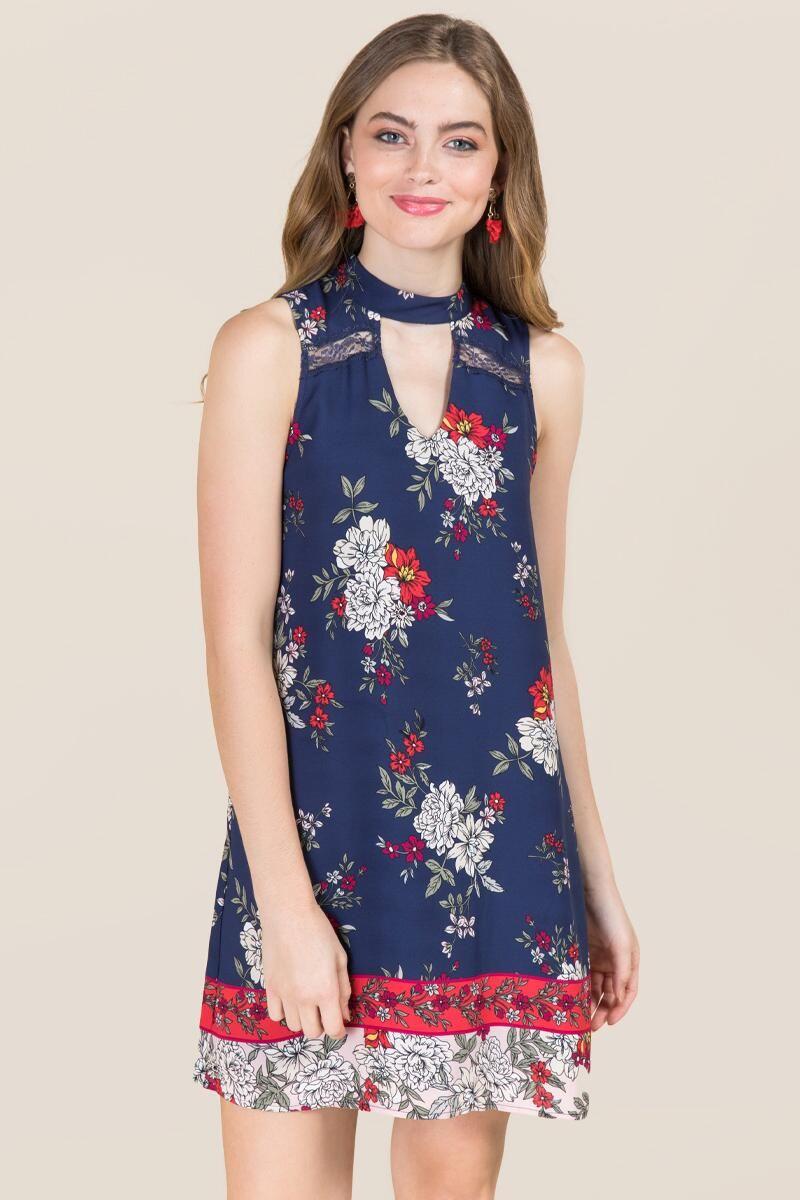 b907938a0d Bexley Gigi Floral Border Print Shift Dress