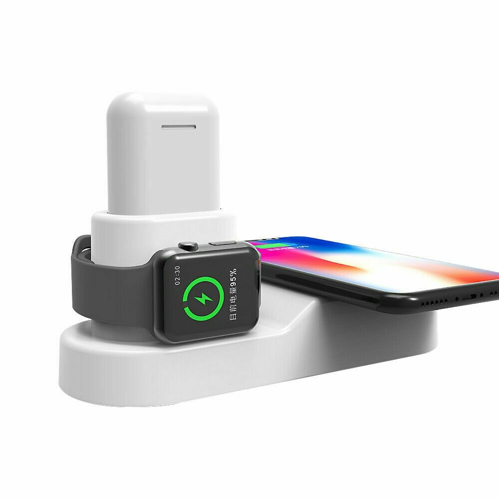 4in1 Wireless Charger Dock Stand For Apple Watch Airpods Iphone X Xs Samsungs10 Multifunctio
