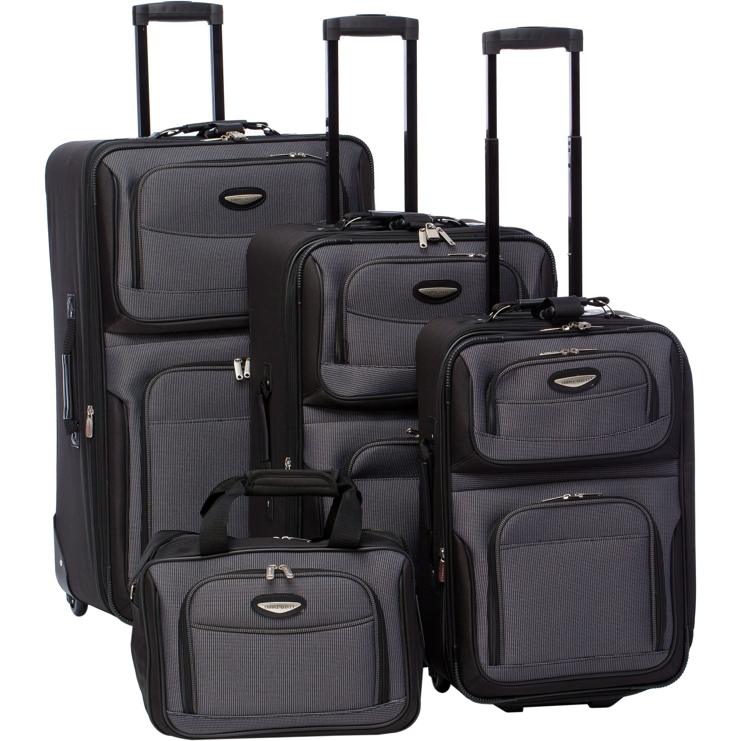 7dbcfb479b Travel Select by Traveler s Choice Amsterdam 4-piece Rolling Expandable  Luggage Set