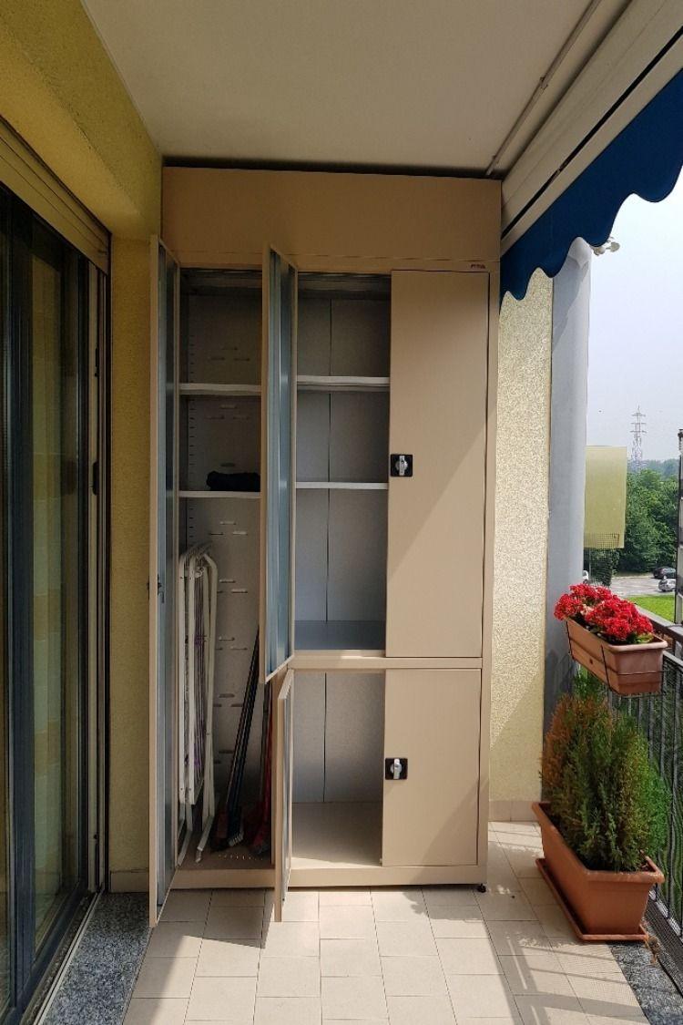 Spostare La Cucina Sul Balcone armadi metallici da esterno in acciaio zincato realizzati su