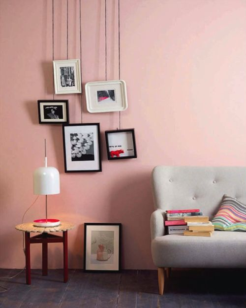 Mur rose | Couleur | Pinterest | Pastels, Empty frames and Interiors