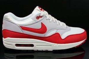 Nike air max 1 og vntg heren zeil wit grijs zwart rood schoenen