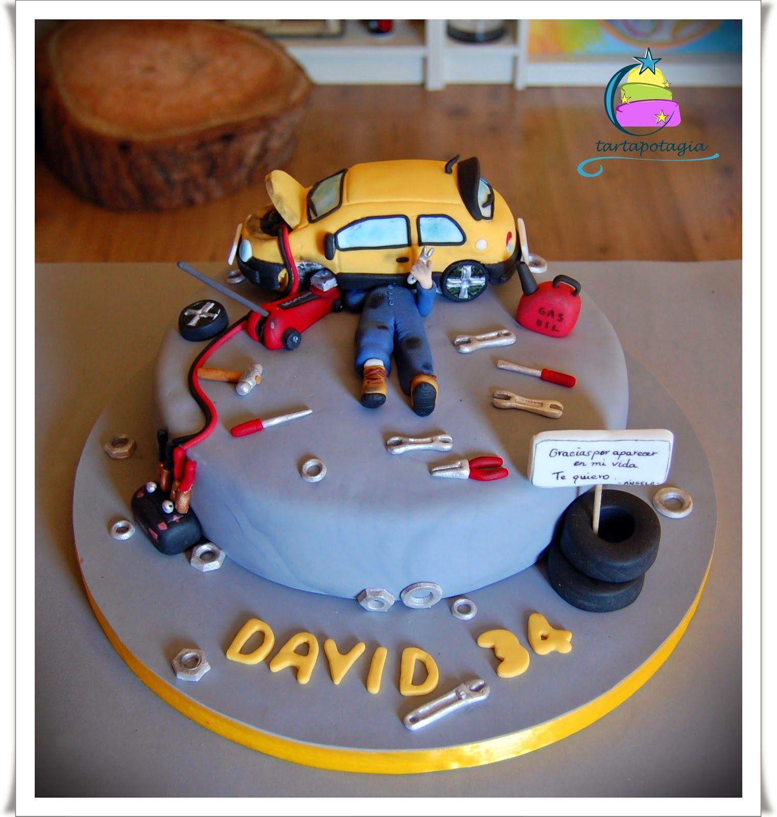 Pastel Mecanico Buscar Con Google Tartas Pinterest Cake - Car engine birthday cake