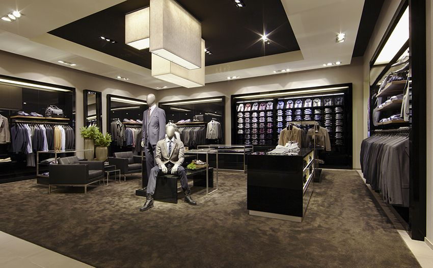 interiors of boss store yorkdale mall retail interior