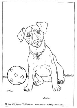 Free Jack Russel Terrier Coloring Sheet Animal Coloring Pages