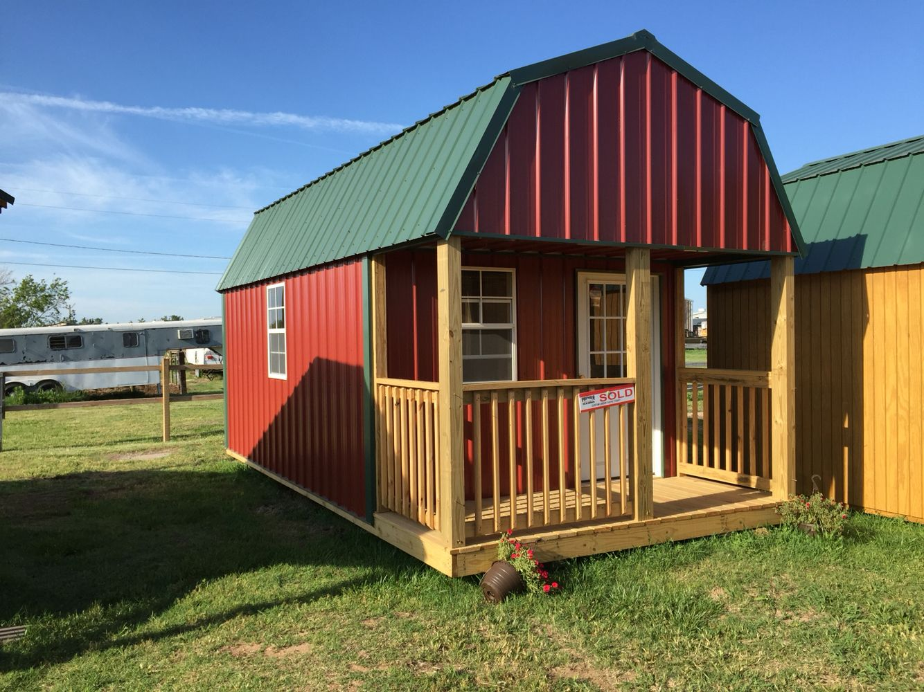 This 10x20 cabin would be perfect for a single person or couple to ...