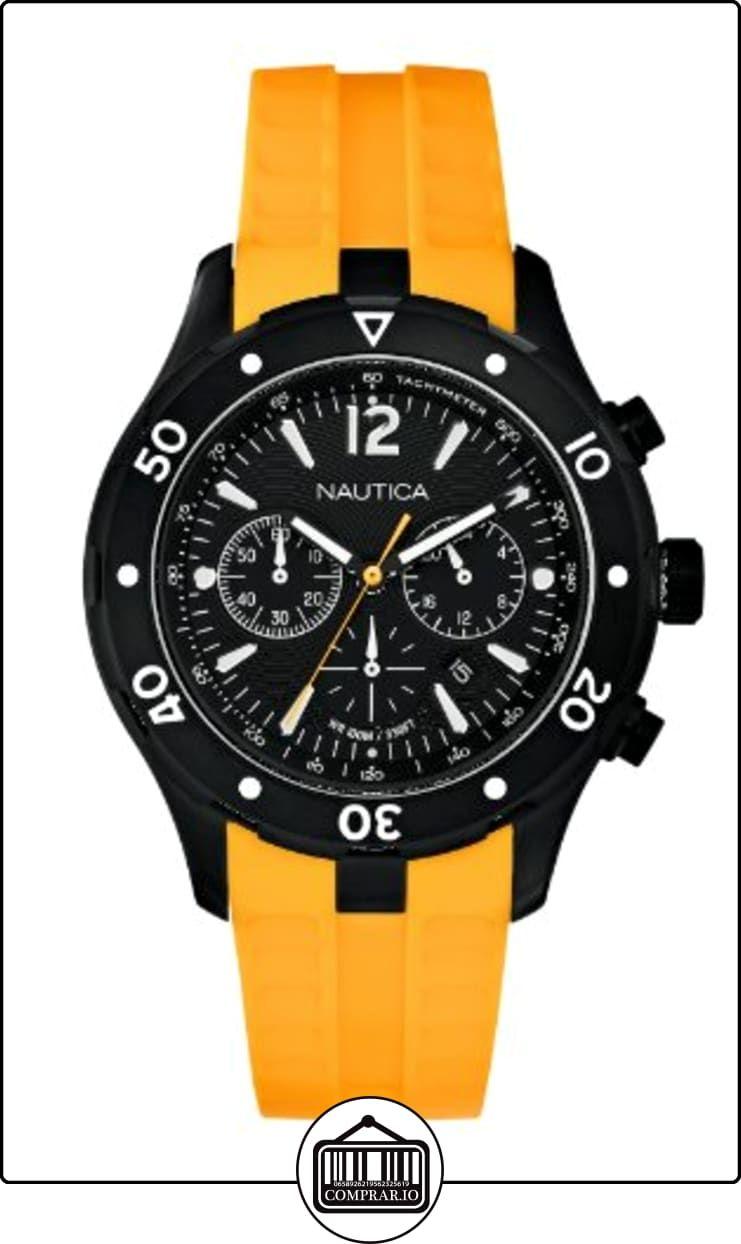 Nautica A21545G - Reloj de pulsera hombre, caucho, color amarillo  ✿ Relojes para hombre - (Gama media/alta) ✿