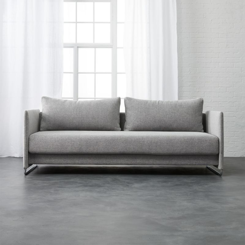 Shop Tandom Dark Grey Sleeper Sofa Ingenious Sleeper Transforms From Sofa To Guest Bed In Clever 1 2 3 Setup Modern D Sleeper Sofa Small Sleeper Sofa Sofa