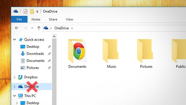 How to Get Rid of the OneDrive Icon in Windows 10's File