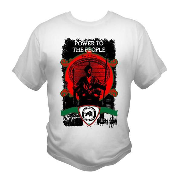 727664ff8 Black Panther Party White T-Shirt Graphic Tee Afrocentric RBG
