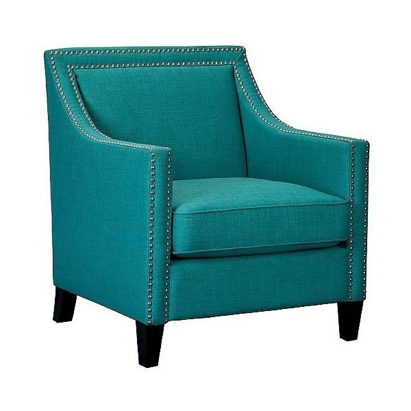 Perfect Upholstered Chair: Elkin Aqua/Teal ($360) ❤ Liked On Polyvore Featuring Home