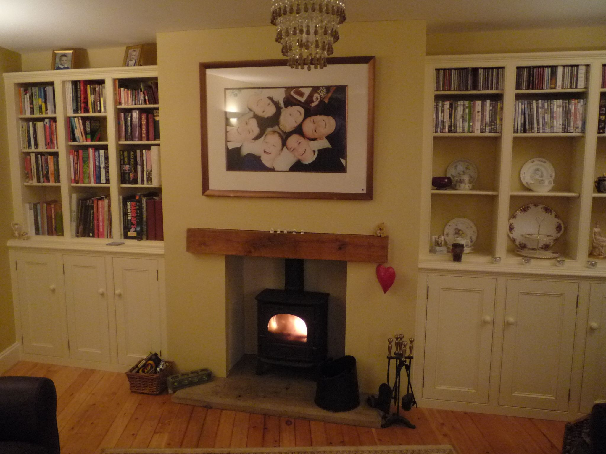 The plan is to create alcoves in the kitchen-diner by building a ...