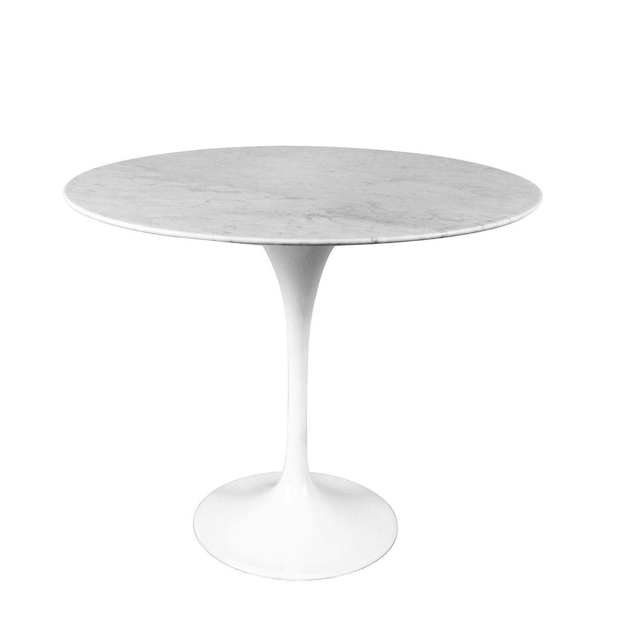 Rt335swhite Reproduction Saarinen Marble Tulip Side Table Tulip Side Table Side Table White Side Tables