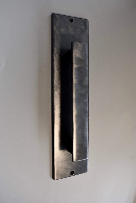 Silver steel door pull handle/ barn door handle/ door