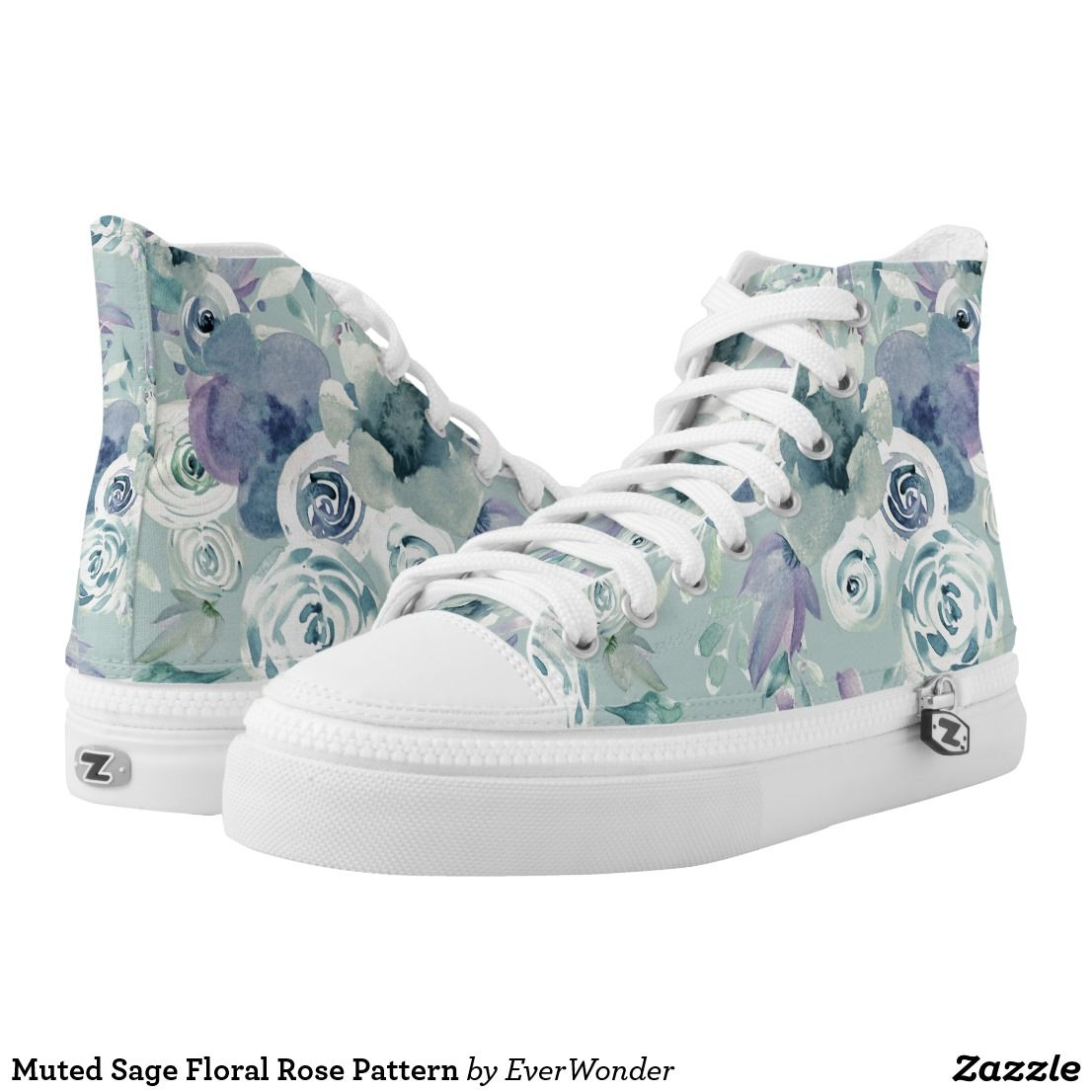 Rose Pattern Women/'s High-top Sneakers