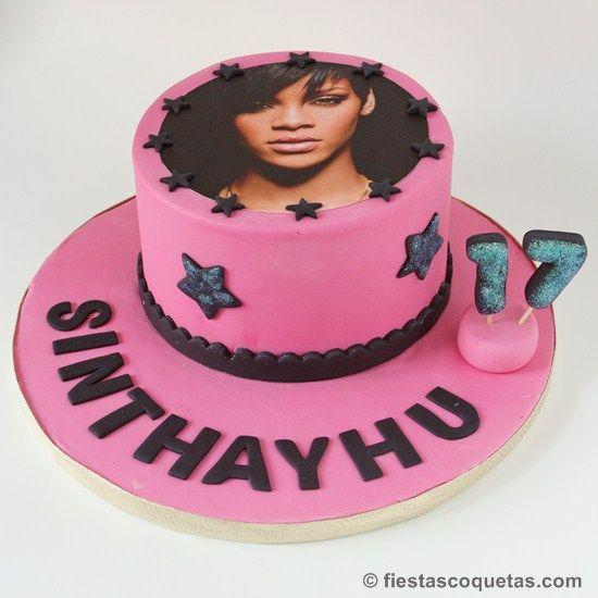 Tarta fondant Rihanna de fiestascoquetas.com