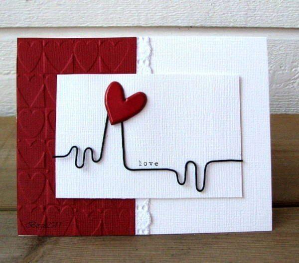Tarjeta de amor tarjetas de presentacion pinterest - Manualidades para hacer tarjetas ...