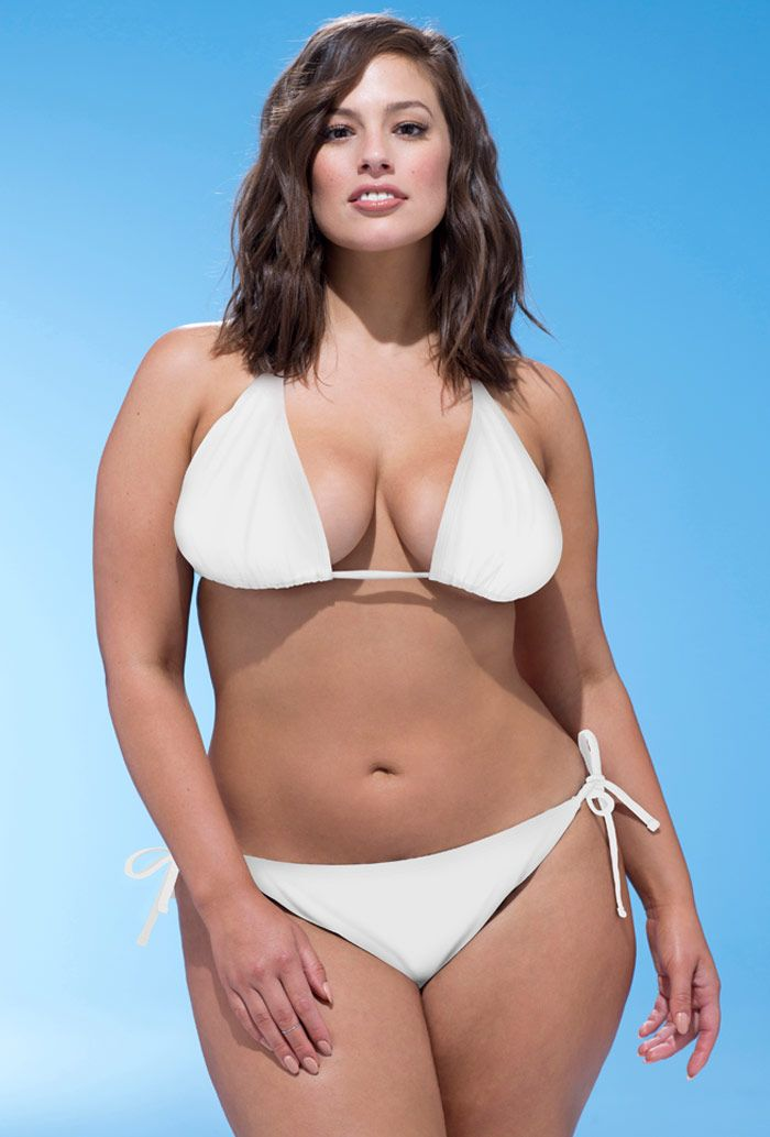 a25581fe8cb Ashley Graham x Swimsuits For All Icon White Triangle Bikini with ...