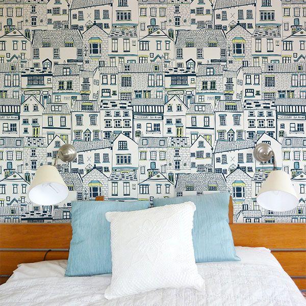Jessica Hogarth Coastal Cottages Wallpaper Cottage Wallpaper Eclectic Wallpaper Beach House Decor