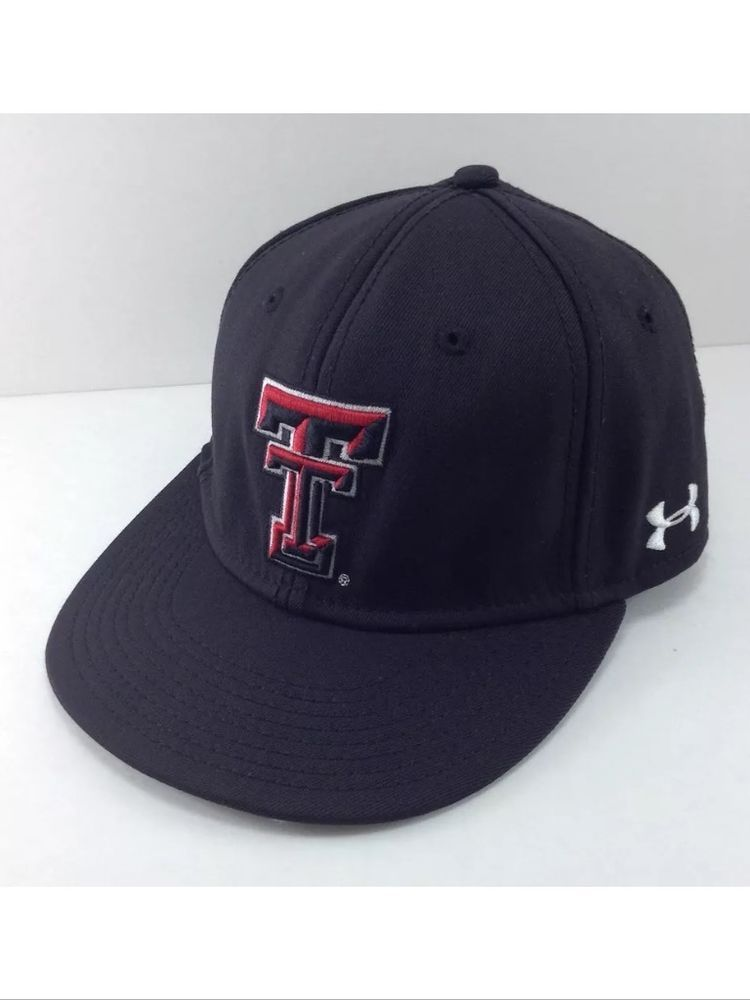 buy popular cb7c8 b3fce ... czech under armour texas tech red raiders fitted hat style ua504 size 7  black big 12