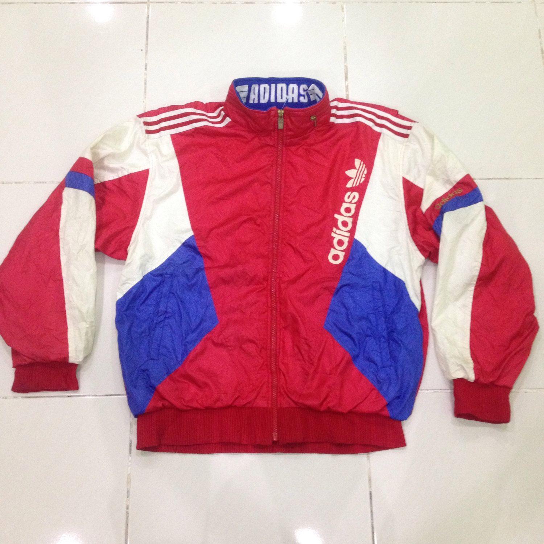 f18b1aa8911 vintage 90s adidas track top windbreaker sweater jacket by  bintangclothingstore on Etsy https