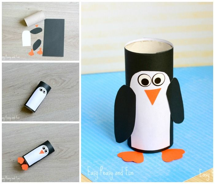 Paper Roll Penguin Craft - Winter Crafts for Kids - Easy Peasy and Fun #penguincraft