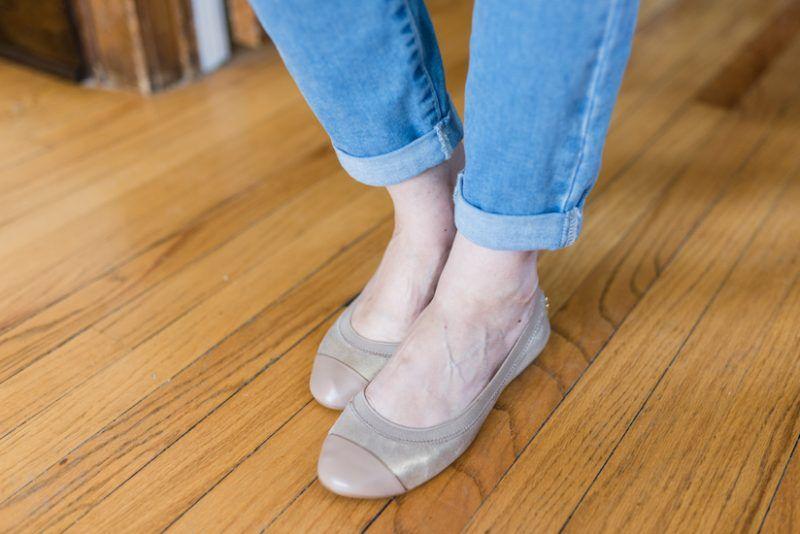 Leather ballet flats, Stitch fix