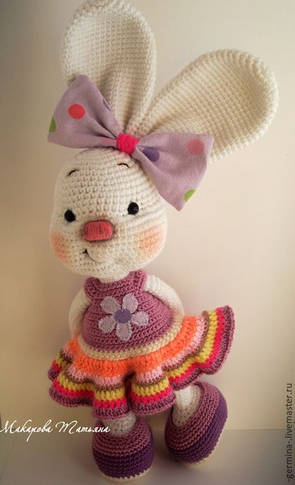 Animal toys, handmade.  Order Golden Bunny .... Tatiana Makarova.  Arts and crafts fair.  Bunny girl, handmade toys
