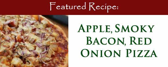 Apple Smokey Bacon Red Onion Pizza