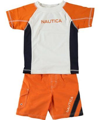 bbbebde30f Nautica Boys 2-7 Baseball T-Shirt And Trunk Set With Rash Guard This Nautica  swim set will help him take to the water in sporty style.