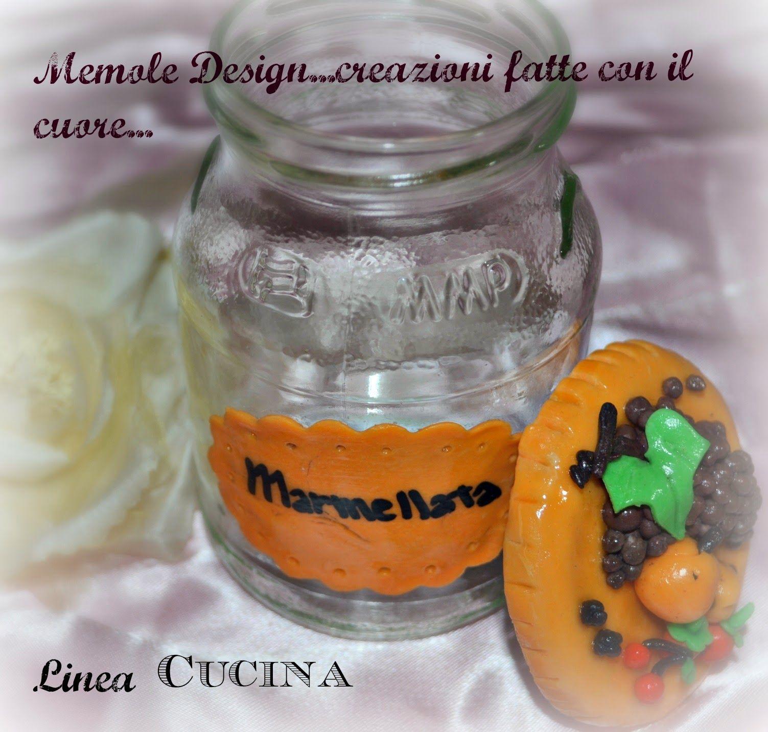 Memole Design....creazioni fatte con il cuore: Barattolo marmellata in porcellana fredda