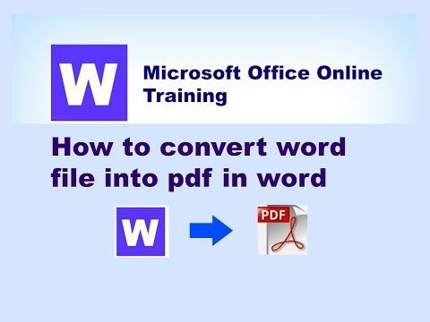 Learn Basics: how to convert word document to pdf offline