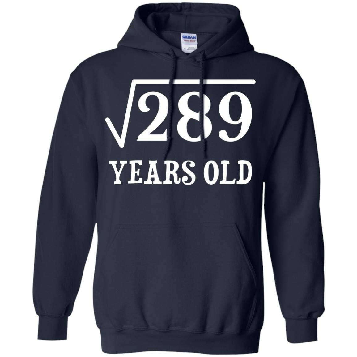 Square Root Of 289 17 Yrs Years Old 17Th Birthday Hoodie - Navy #17thbirthday