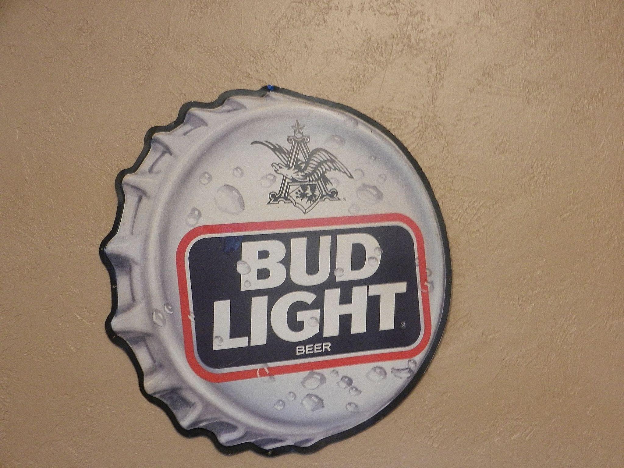 Vintage 1990 S Bud Light Bottle Cap Tin Advertising Sign Bottle Lights Bud Light Advertising Signs